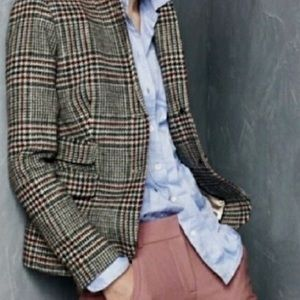 J.Crew Schoolboy Park Plaid Tweed Blazer